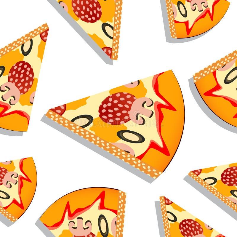 Reticolo della fetta della pizza royalty illustrazione gratis