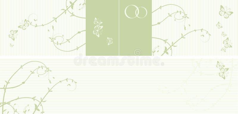 Reticolo della partecipazione di nozze illustrazione di stock