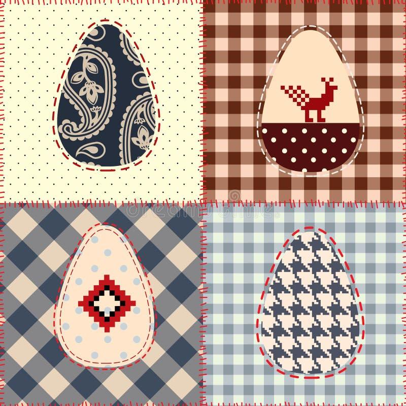 Reticolo della rappezzatura di Pasqua illustrazione di stock