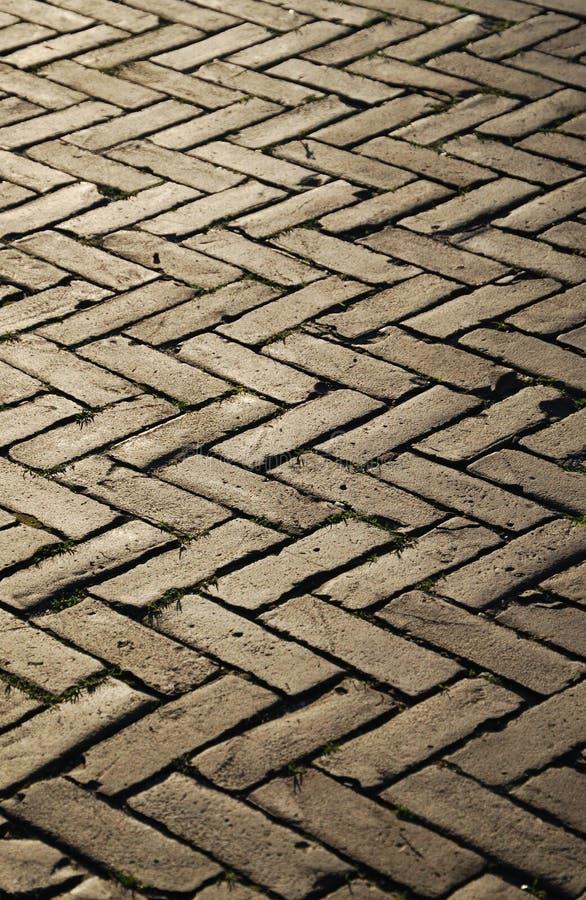 Reticolo della spina di pesce della pavimentazione del blocco. fotografia stock