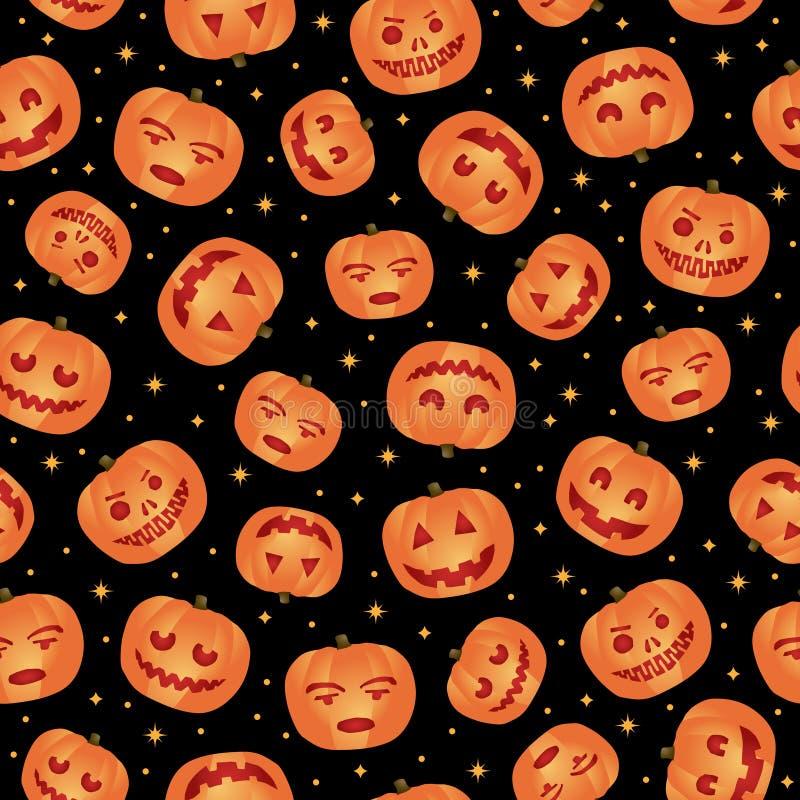 Reticolo della zucca di Halloween illustrazione vettoriale
