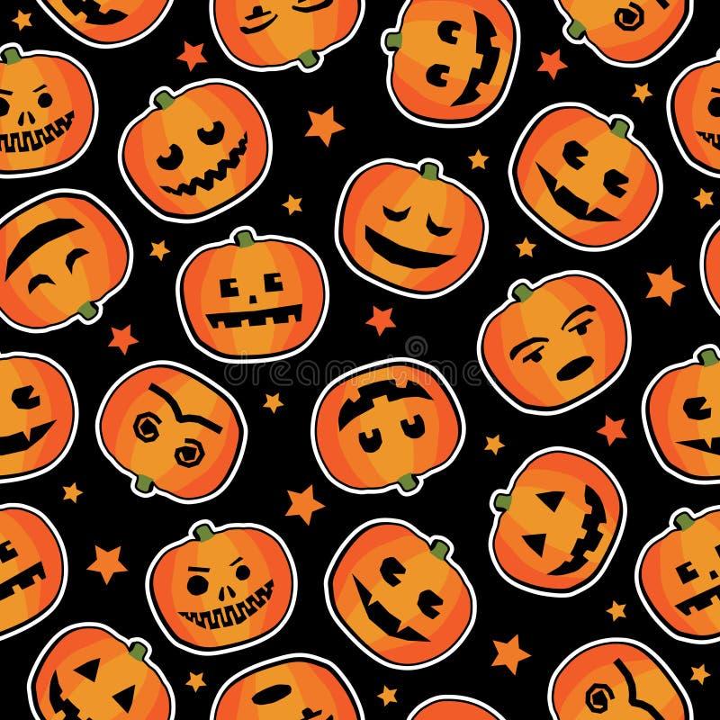 Reticolo della zucca di Halloween royalty illustrazione gratis