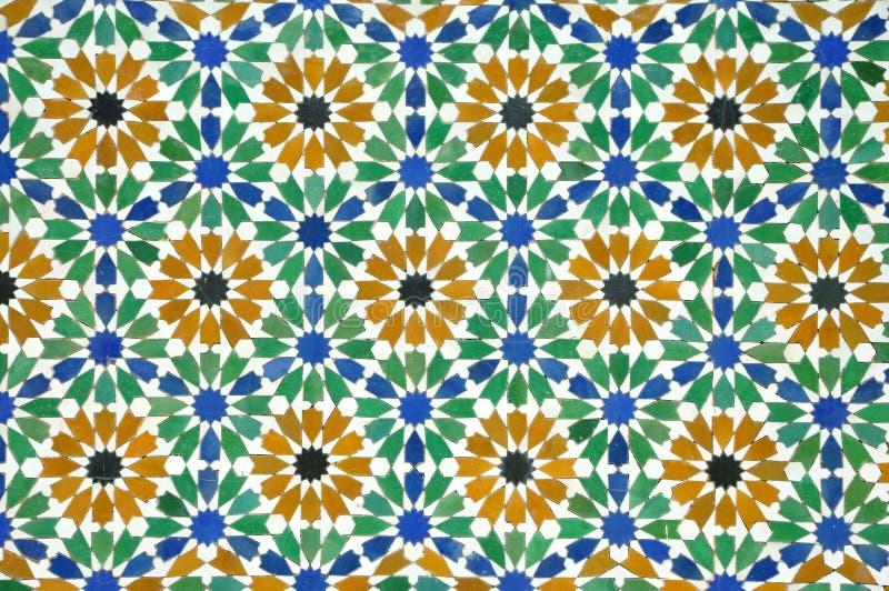 Reticolo delle mattonelle di Morrocan fotografia stock libera da diritti