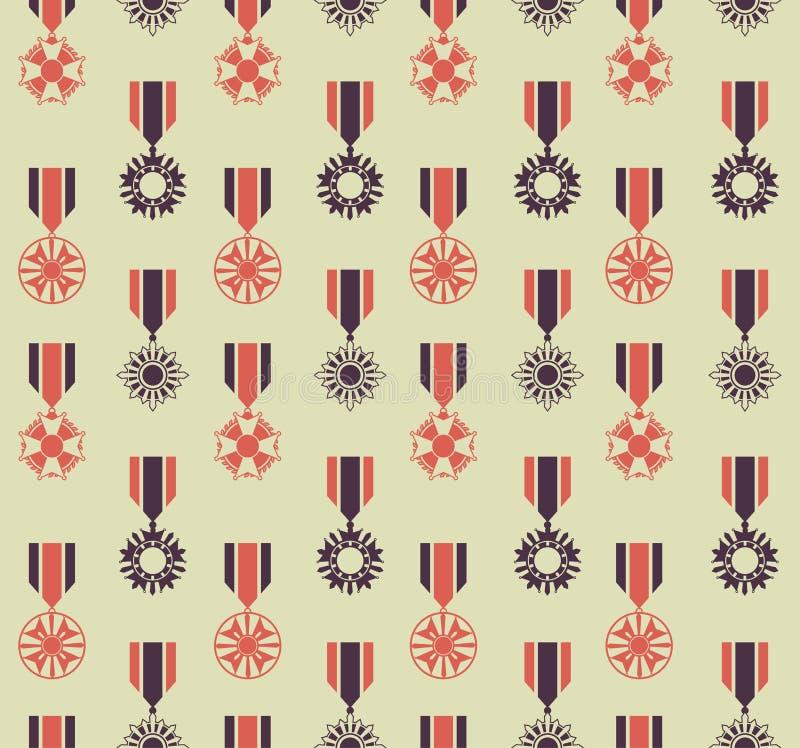 Reticolo delle medaglie di guerra illustrazione vettoriale