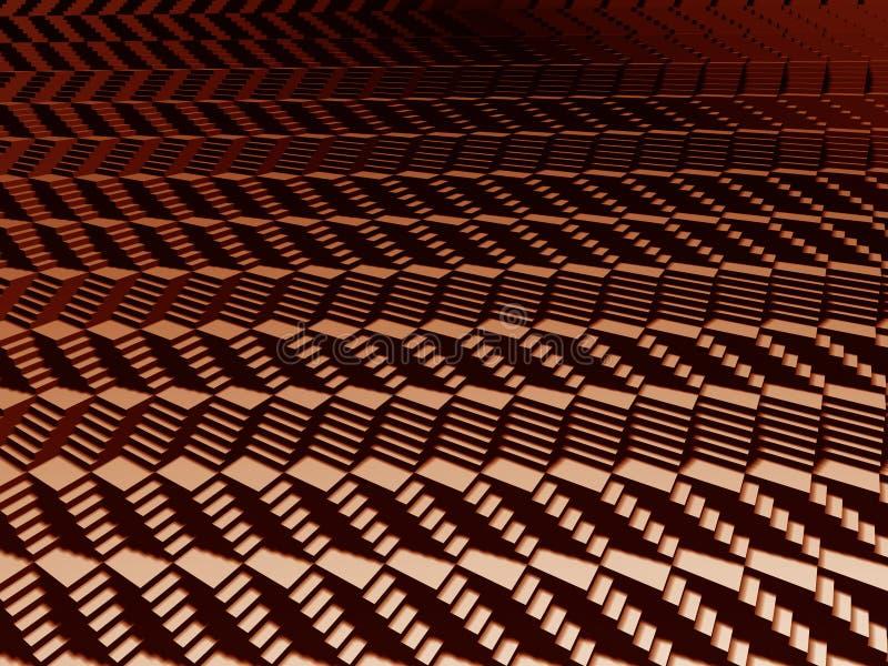 Reticolo delle scale 3d illustrazione vettoriale