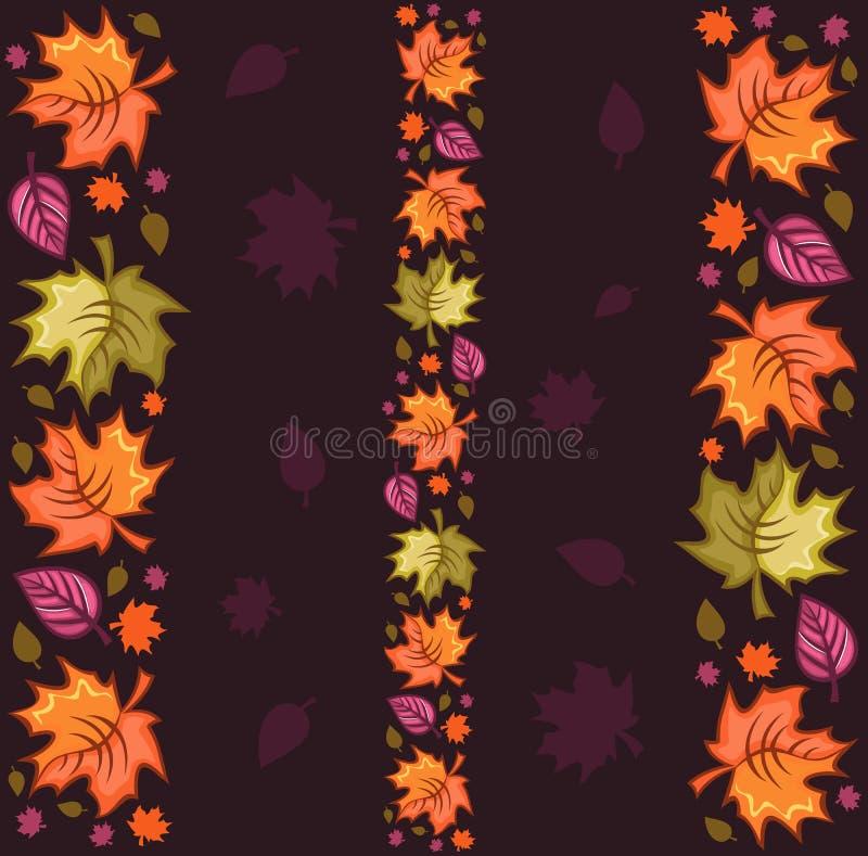 reticolo di autunno senza giunte illustrazione di stock