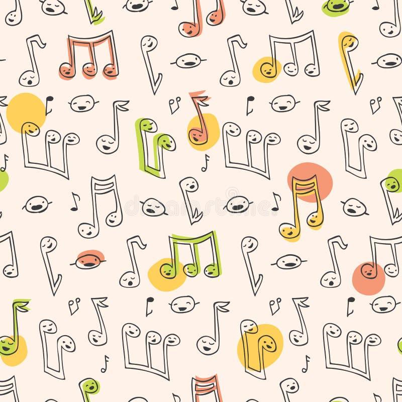 Reticolo di canzone di Doodle illustrazione vettoriale