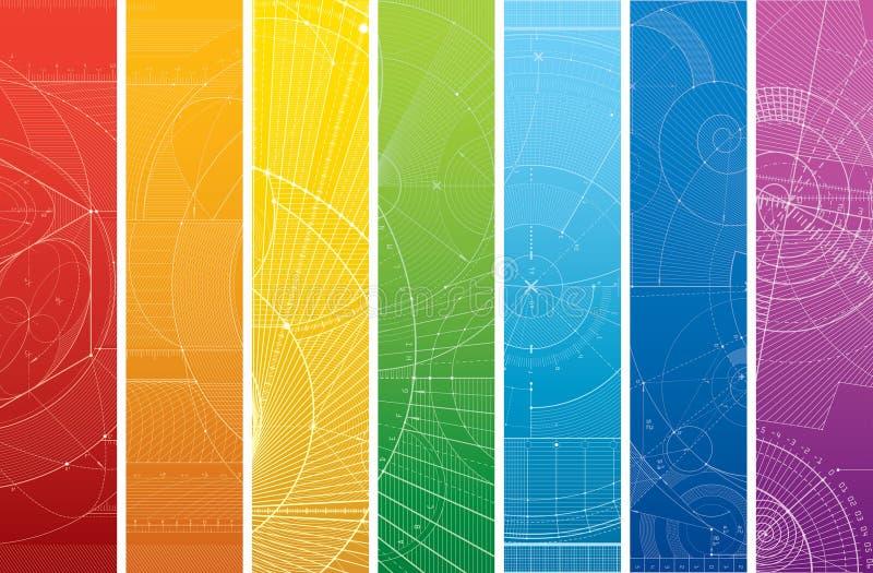 Reticolo di Colordraft illustrazione di stock
