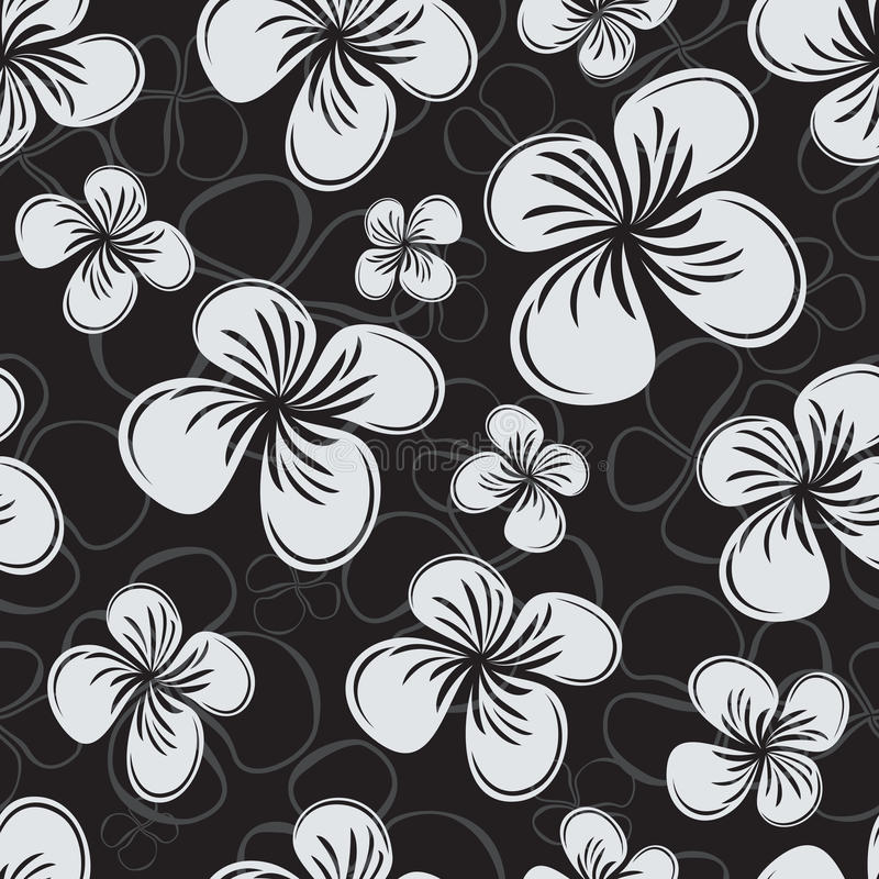 Reticolo di fiore senza giunte illustrazione di stock