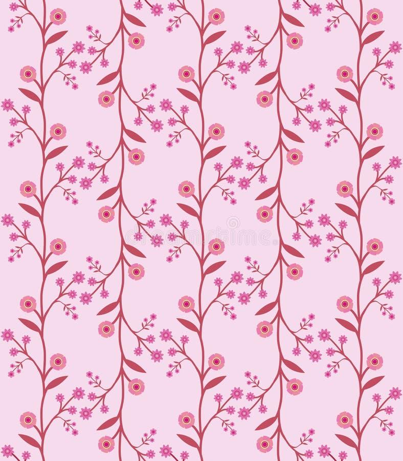 Reticolo di fiore senza giunte nel retro stile di anni sessanta illustrazione vettoriale
