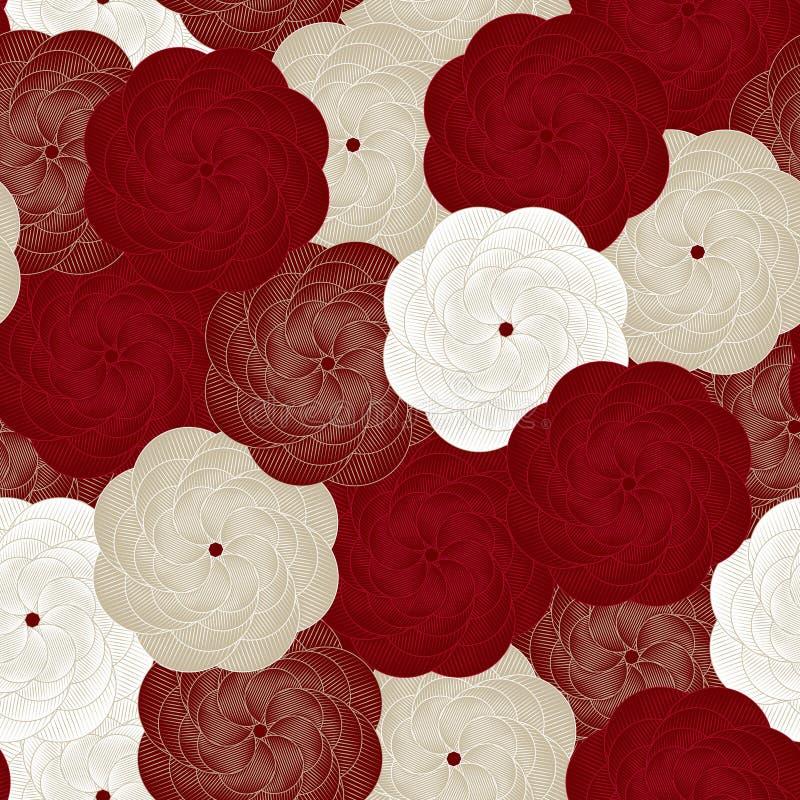 Reticolo di fiore senza giunte di vettore Bello fondo floreale del fondo? con i fiori variopinti Rose Pattern, copertina di libro illustrazione di stock