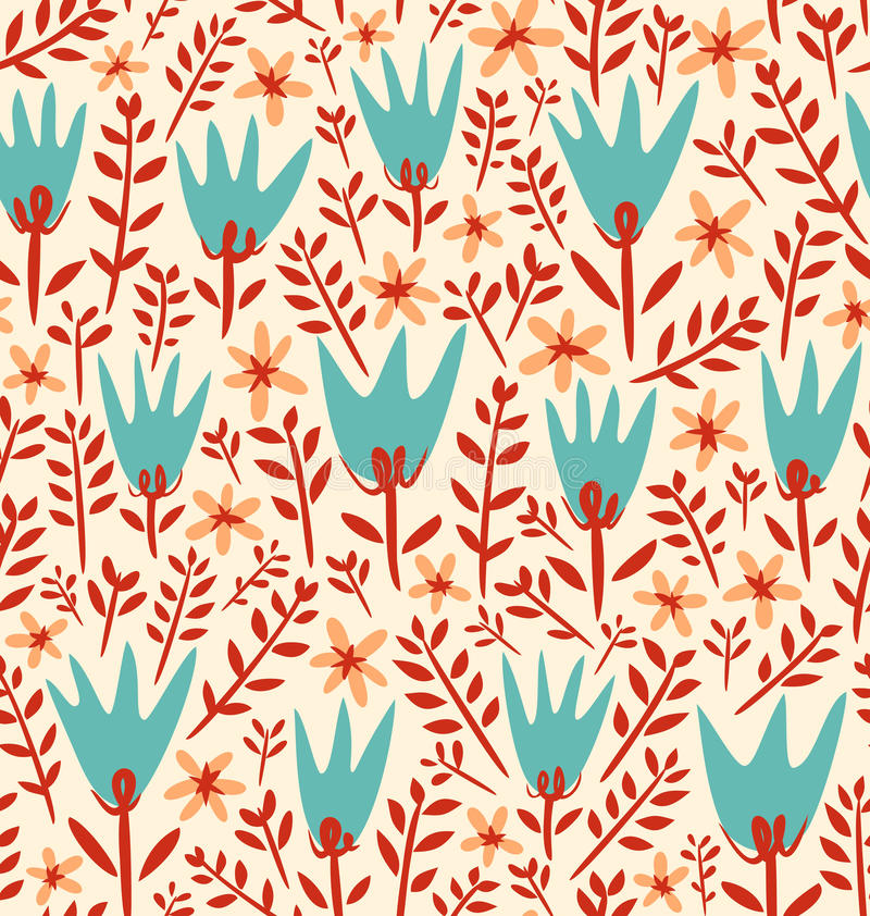 Reticolo di fiori del campo royalty illustrazione gratis