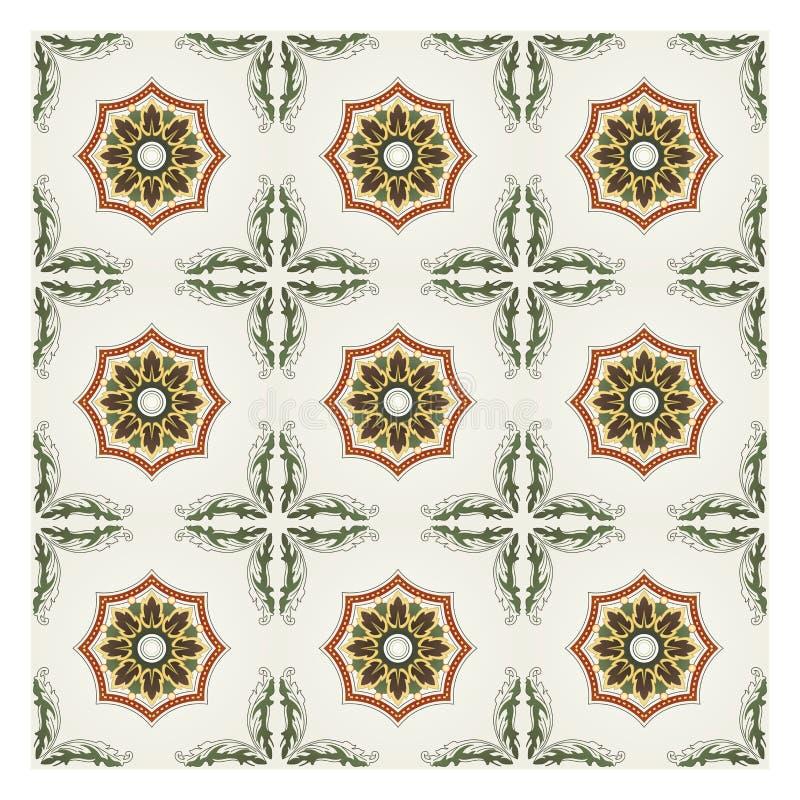 Reticolo di mosaico lavorato illustrazione di stock