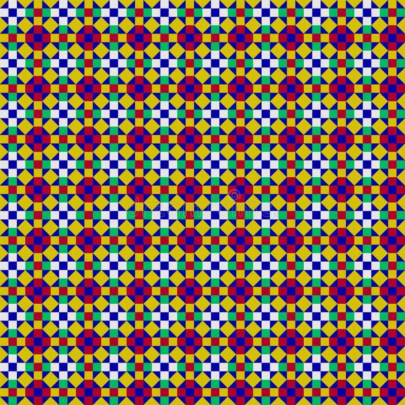 Reticolo di mosaico senza giunte illustrazione di stock