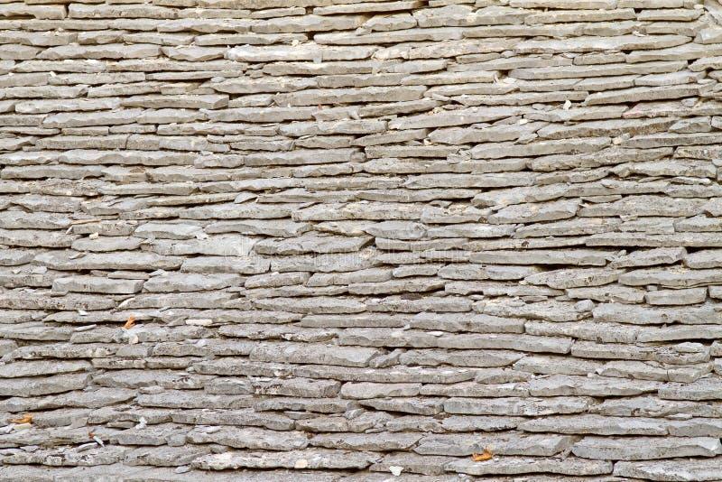 Reticolo di pietra del tetto di mattonelle fotografia stock