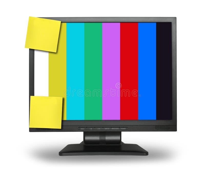 Reticolo di prova del video dell'affissione a cristalli liquidi immagine stock