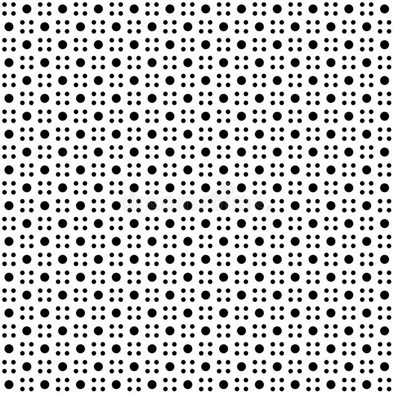 Reticolo di puntini senza giunte di Polka illustrazione di stock
