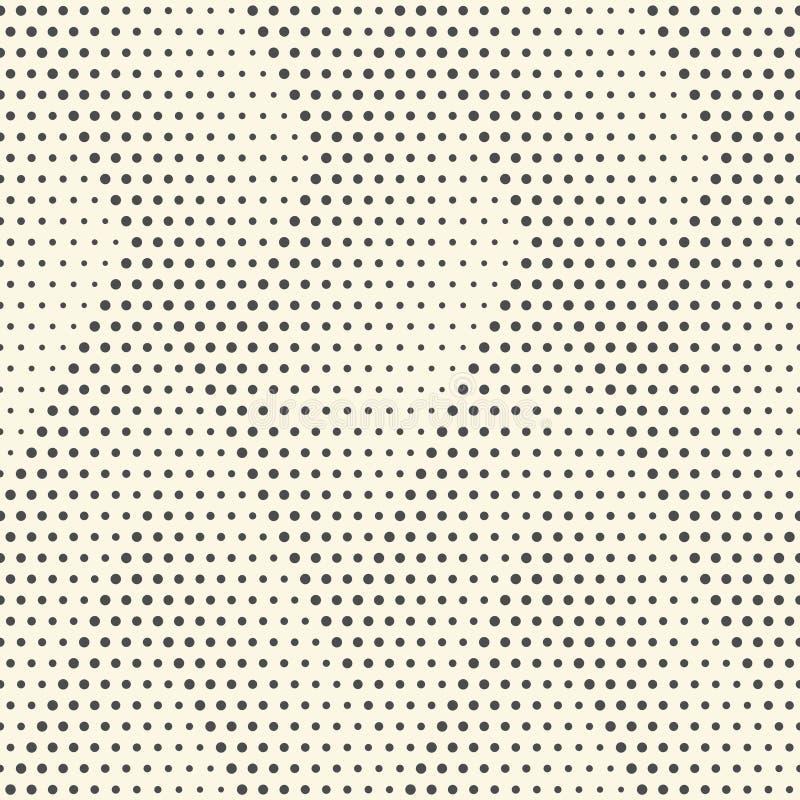 Reticolo di puntini senza giunte Fondo in bianco e nero astratto Vect illustrazione vettoriale