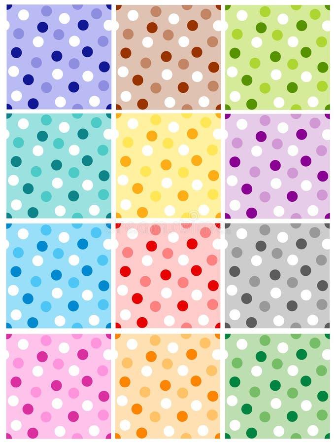 Reticolo di puntino di Polka royalty illustrazione gratis