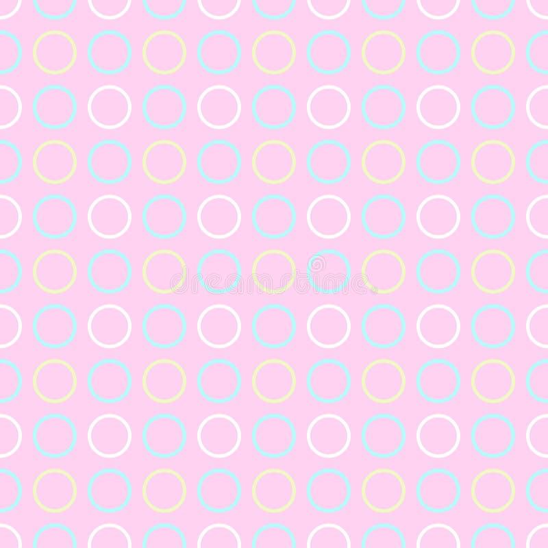 Reticolo di puntino senza giunte di Polka illustrazione di stock
