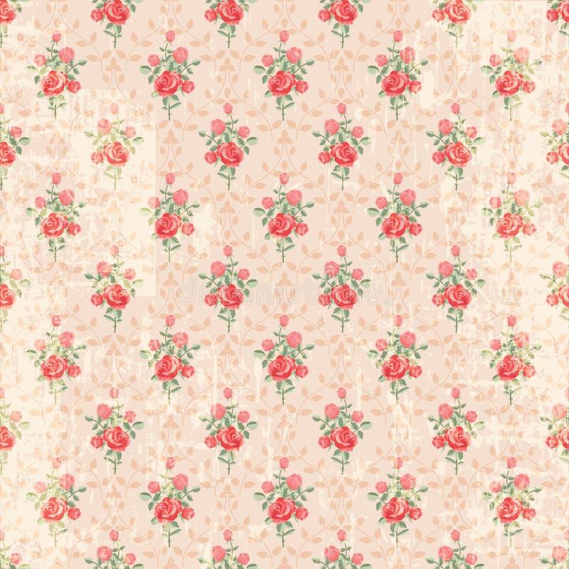 Reticolo di rosa dell'annata senza giunte illustrazione vettoriale