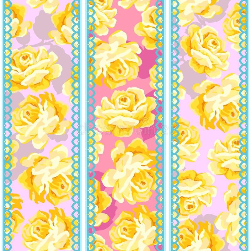 Reticolo di rosa di eleganza misera royalty illustrazione gratis