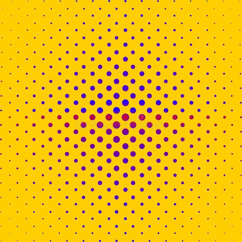 Reticolo di semitono astratto Fondo fatto dei cerchi colorati illustrazione di stock