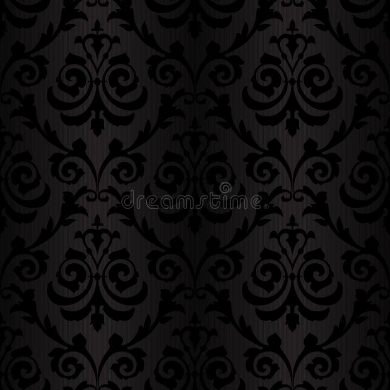 reticolo di seta nero senza cuciture della carta da parati