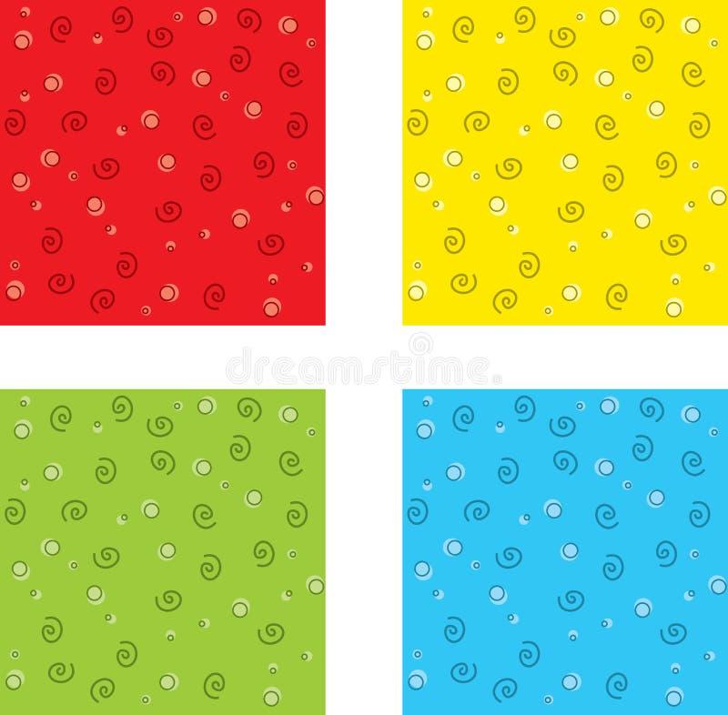 Reticolo di Squiggle illustrazione vettoriale