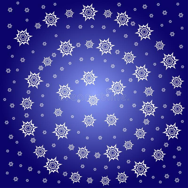 Reticolo di stella astratto della neve illustrazione di stock