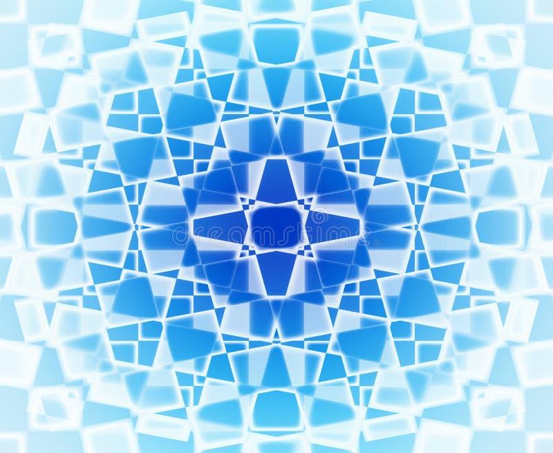 Reticolo di stella blu e bianco illustrazione vettoriale