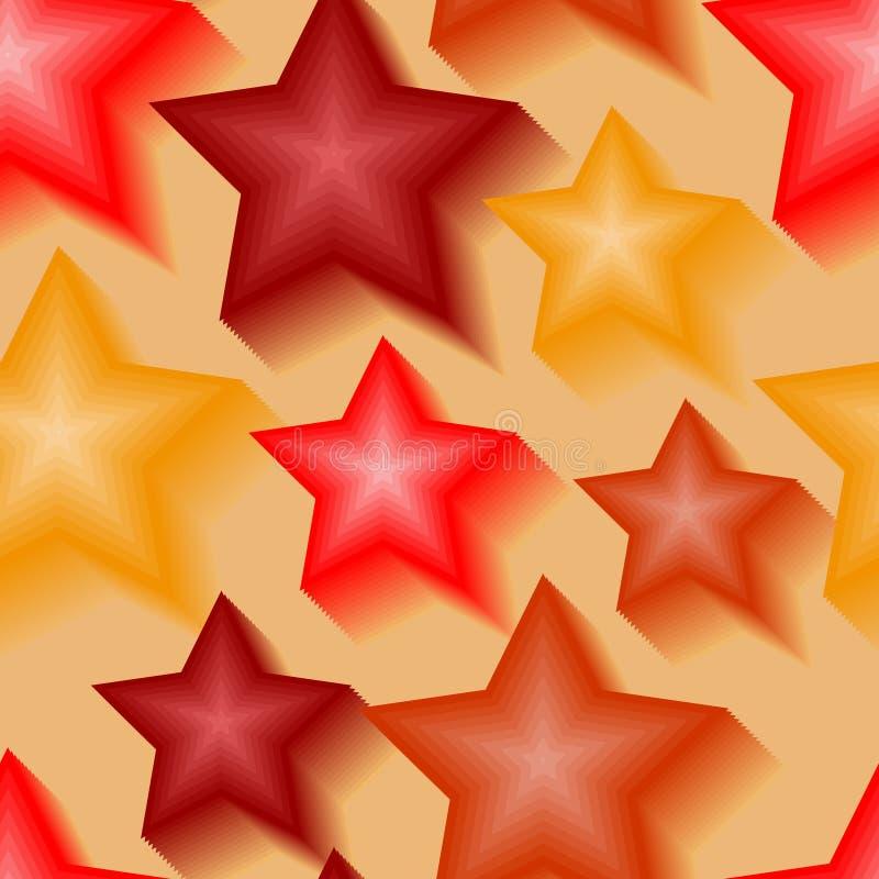 Reticolo di stella senza giunte 3d illustrazione vettoriale