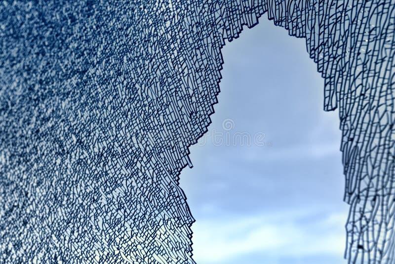 Reticolo di vetro rotto immagini stock