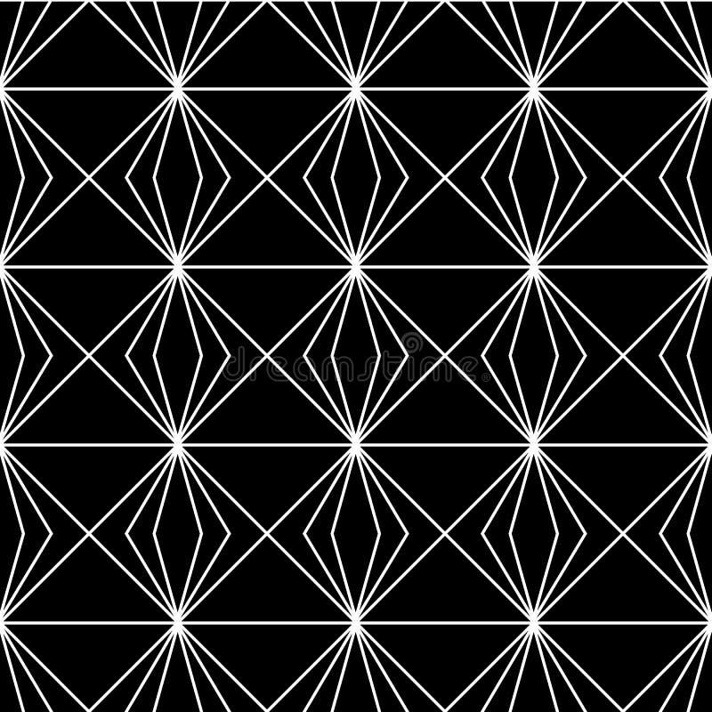 Reticolo di vettore Struttura astratta alla moda moderna Ripetizione delle mattonelle geometriche dagli elementi a strisce royalty illustrazione gratis