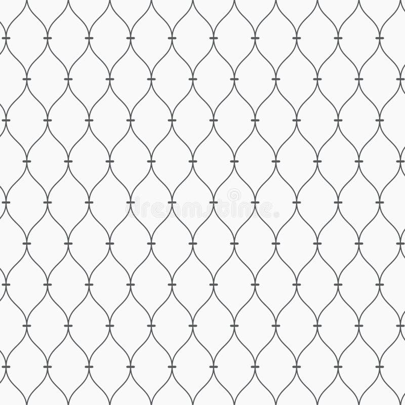 Reticolo di vettore Struttura punteggiata moderna Ripetizione del fondo astratto Griglia lineare ondulata semplice Contesto minim illustrazione di stock