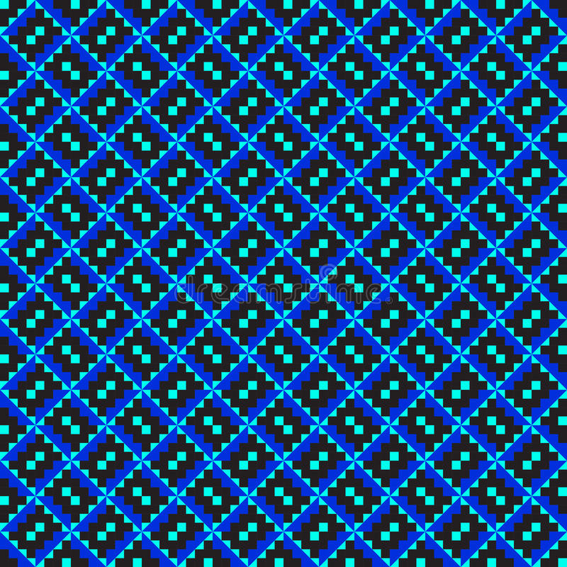 Reticolo di zigzag blu diagonale illustrazione vettoriale