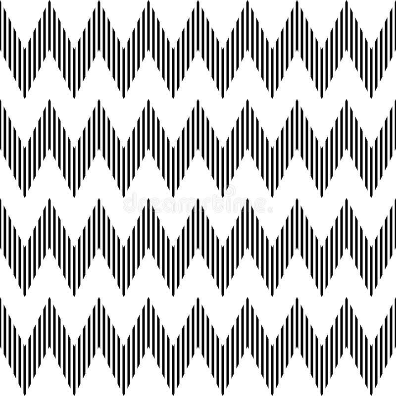Reticolo di zigzag geometrico senza giunte. illustrazione vettoriale