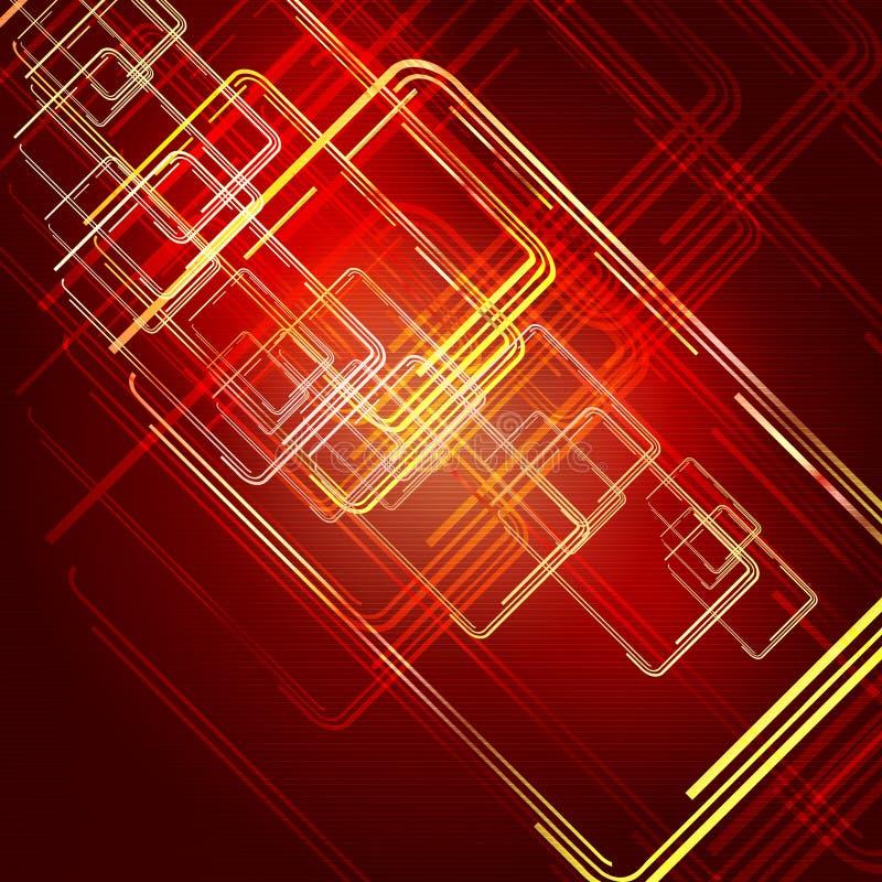 Reticolo digitale rosso illustrazione vettoriale