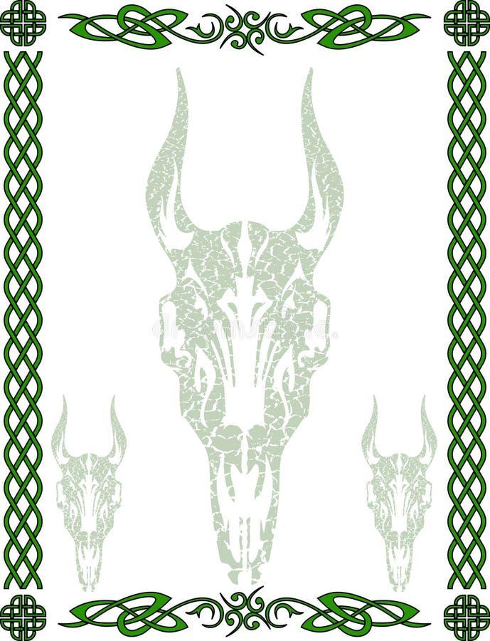 Reticolo e simboli celtici fotografia stock
