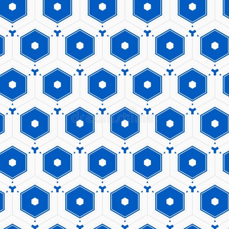 Reticolo esagonale delle mattonelle royalty illustrazione gratis