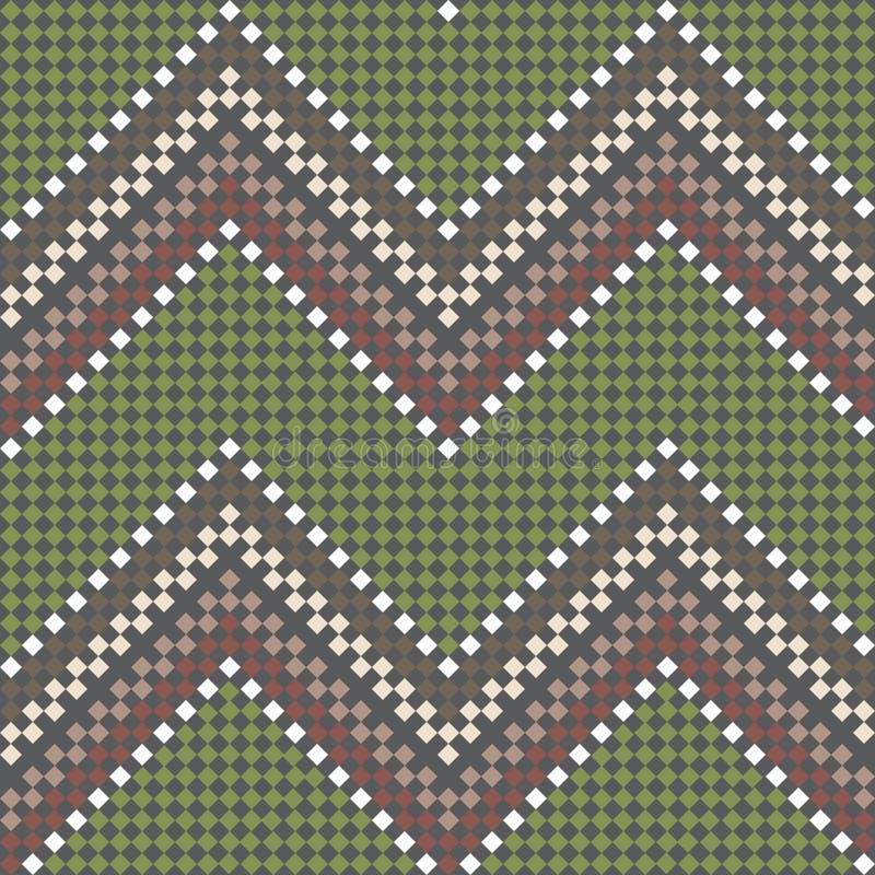 Reticolo etnico handmade ricamato senza giunte illustrazione di stock