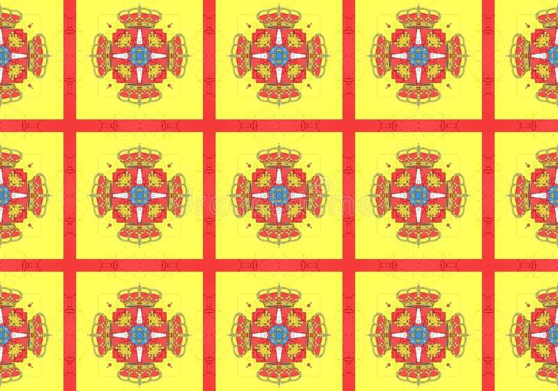 Reticolo etnico Progettazione astratta del tessuto royalty illustrazione gratis