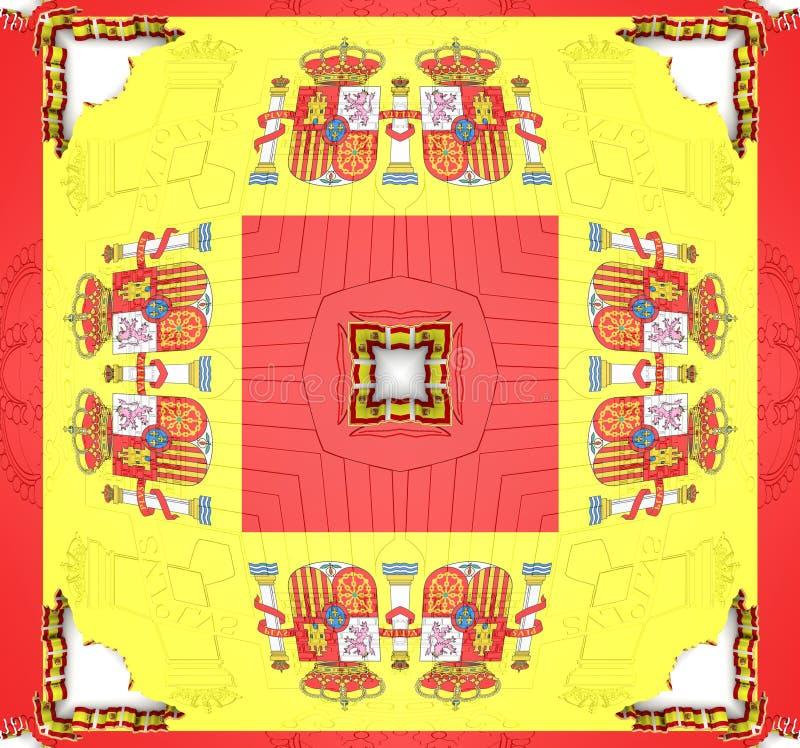 Reticolo etnico Progettazione astratta del tessuto del caleidoscopio royalty illustrazione gratis
