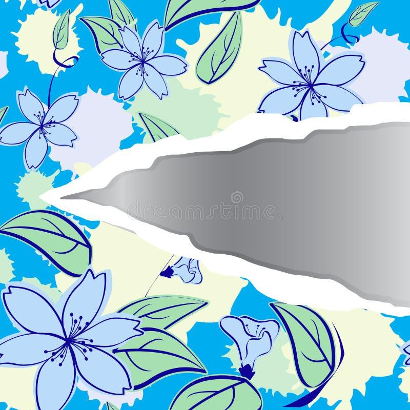Reticolo floreale illustrazione di stock