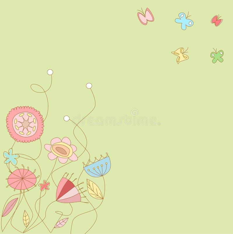 Reticolo floreale 3 royalty illustrazione gratis