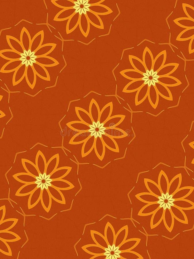 Reticolo floreale in arancio illustrazione vettoriale