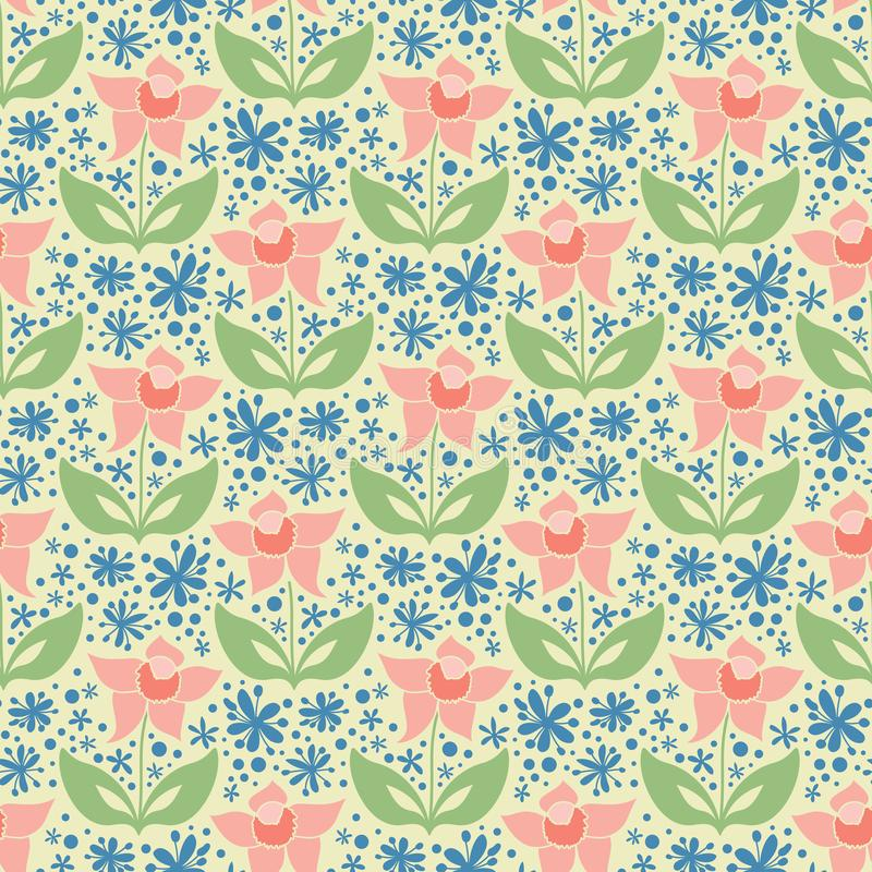 Reticolo floreale astratto illustrazione di stock