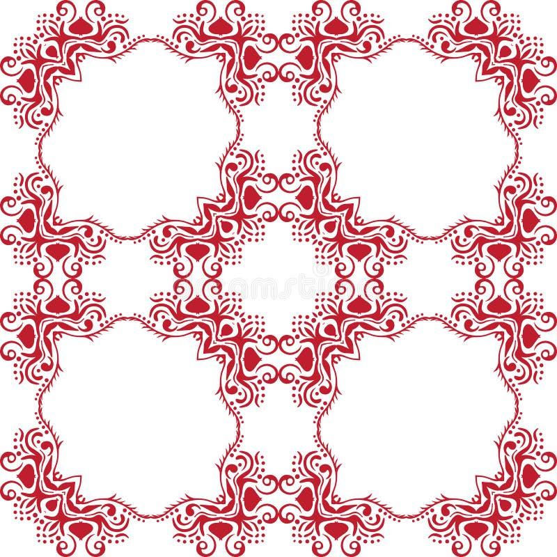 Reticolo floreale astratto senza giunte Fondo bianco di vettore Ornamento geometrico della foglia Modello moderno grafico illustrazione di stock