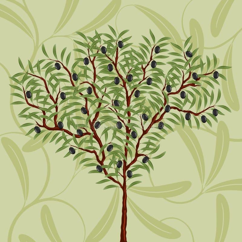 Reticolo floreale con di olivo illustrazione vettoriale