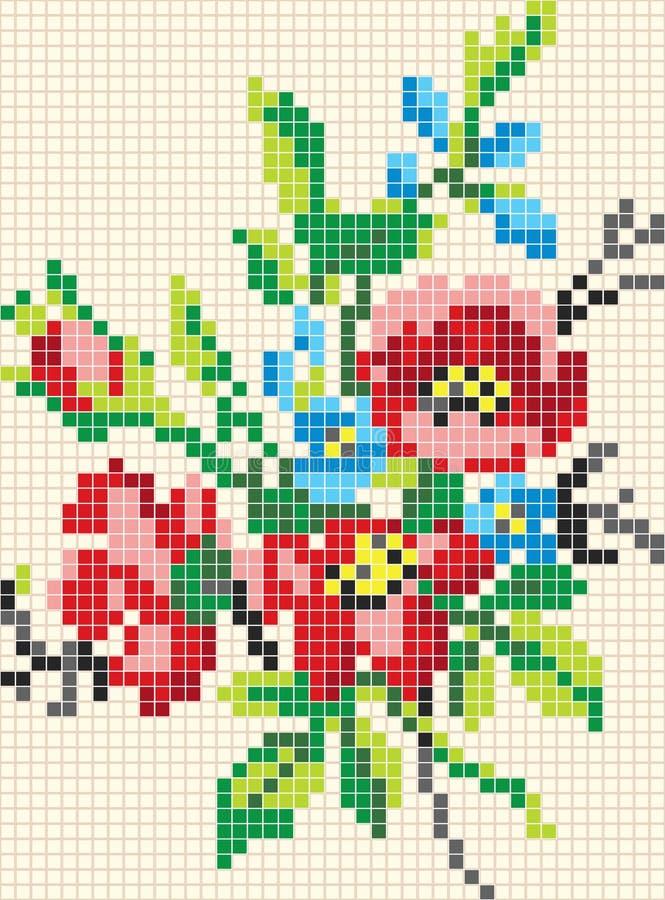 Reticolo floreale del mosaico illustrazione vettoriale